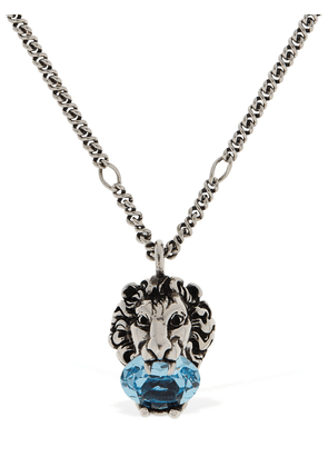 Lion Head Crystal Long Necklace
