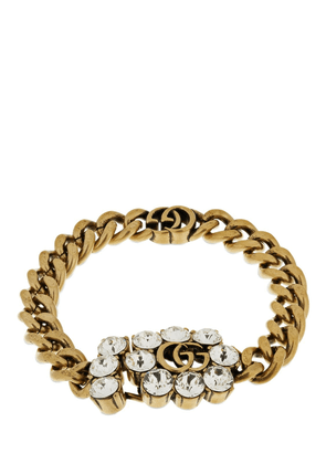 Gg Marmont & Crystal Chain Bracelet