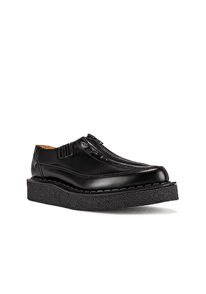 Comme Des Garcons Homme Plus George Cox Zip Slip-On Creeper in Black - Black. Size 9 (also in 8).
