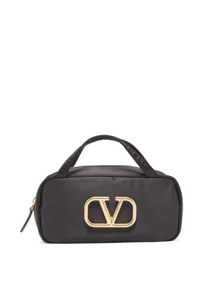Valentino Garavani - V-logo Makeup Bag - Womens - Black