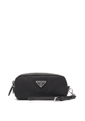 Prada - Triangle Logo-plaque Nylon Makeup Bag - Womens - Black