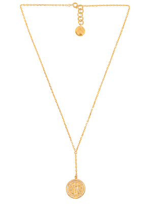 Amber Sceats Claire Necklace in Metallic Gold.