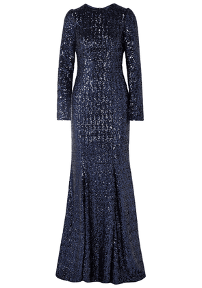 Dolce & Gabbana Sequined Tulle Gown Woman Navy Size 38