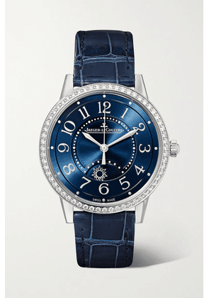 Jaeger-LeCoultre - Rendez-vous Night & Day 34mm Medium Automatic Stainless Steel, Alligator And Diamond Watch - Silver