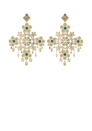 Gucci floral motif drop earrings - Gold