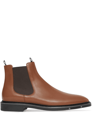 Burberry logo-detail Chelsea boots - Brown