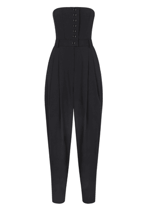 Dolce & Gabbana belted strapless jumpsuit - Black