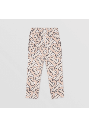 Burberry Childrens Monogram Print Technical Jersey Jogging Pants, Pink