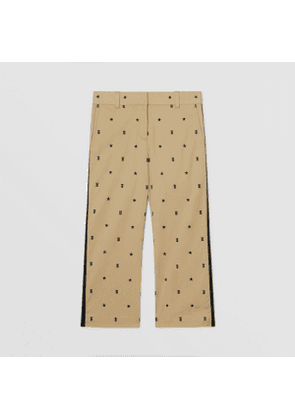 Burberry Childrens Star and Monogram Motif Stretch Cotton Trousers