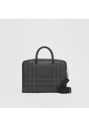 Burberry London Check and Leather Briefcase, Black