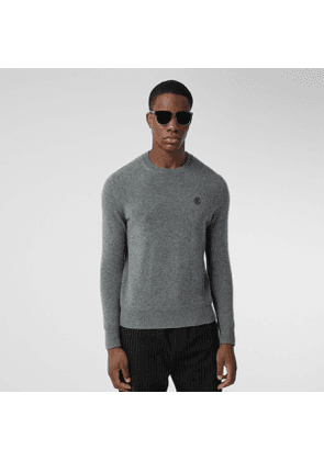Burberry Monogram Motif Cashmere Sweater, Grey