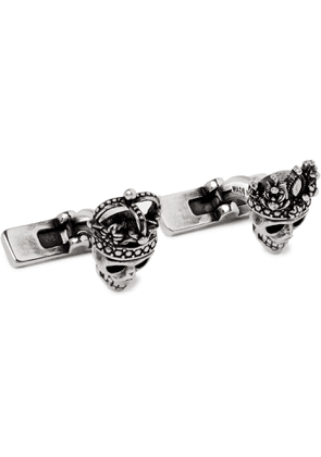 ALEXANDER MCQUEEN - Burnished Silver-Tone Cufflinks - Men - Silver