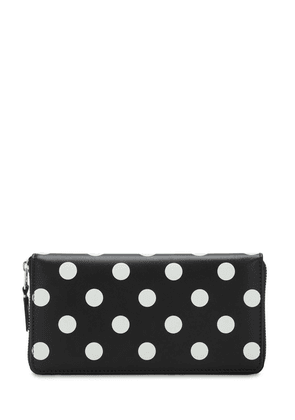 Polka Dots Printed Leather Wallet