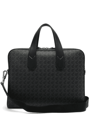 Dunhill - Logo-print Leather-trimmed Canvas Briefcase - Mens - Black