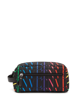 Valentino Garavani - Vltn-logo Canvas Wash Bag - Mens - Black Multi
