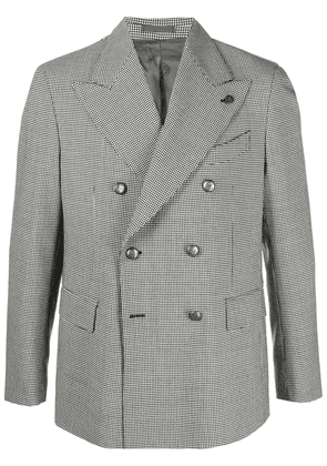 Gabriele Pasini houndstooth check double-breasted blazer - Black