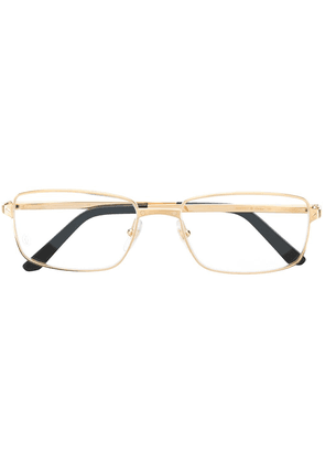 Cartier Eyewear rectangular frame glasses - GOLD