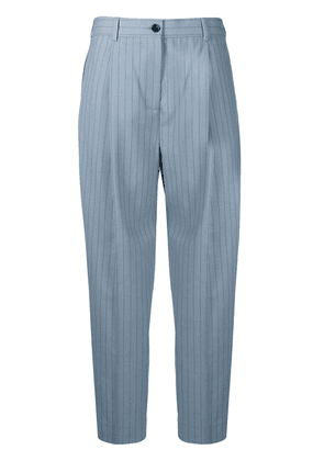 Acne Studios pinstripe cropped trousers - Blue