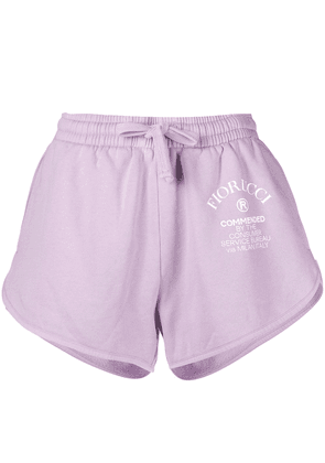 Fiorucci Commended logo-print track shorts - Pink