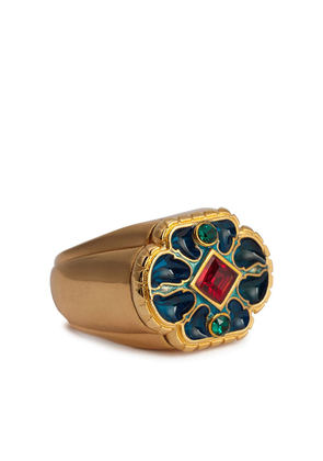 Dolce & Gabbana crystal-embellished ring - GOLD