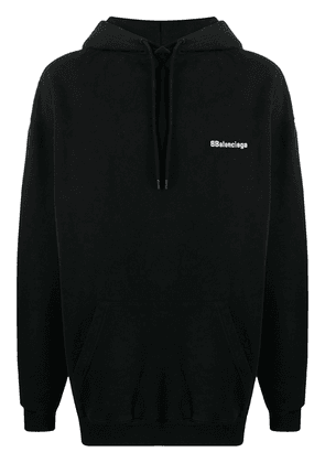 Balenciaga embroidered logo hoodie - Black