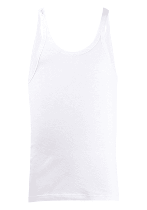 Dolce & Gabbana ribbed cotton vest - White