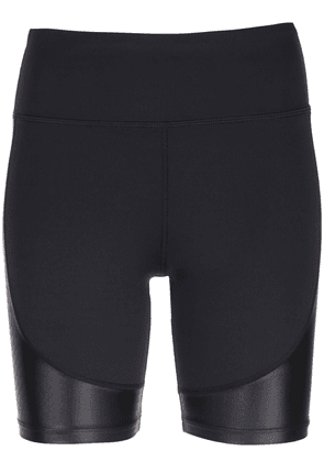 ALALA waxed panel cycling shorts - Black