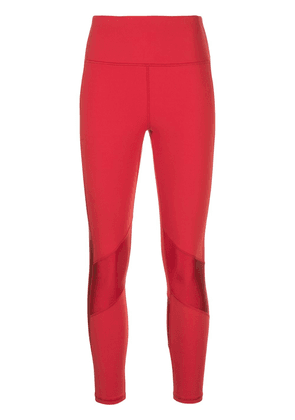 ALALA high waisted striped leggings - Red