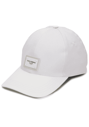 Dolce & Gabbana logo patch baseball cap - White