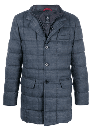 Fay checked quilted down coat - Blue