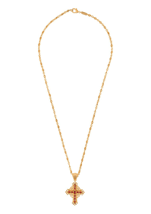 Dolce & Gabbana embellished crucifix necklace - Gold