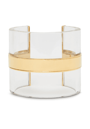 Burberry transparent cylindrical cuff - Gold