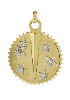 Foundrae 18kt yellow gold diamond Baby Resilience medallion