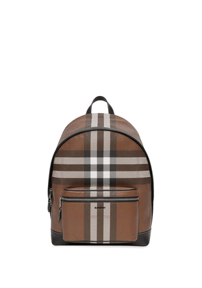 Burberry check-pattern backpack - Brown