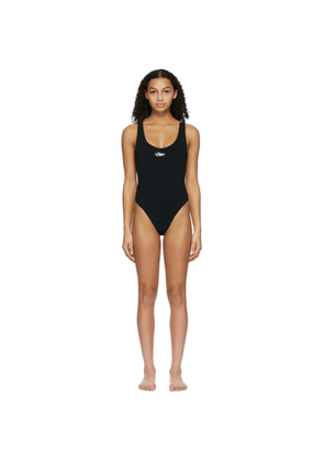 Off-White Black Logo Tape One-Piece Swimsuit