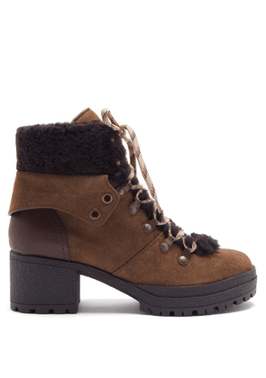 See By Chloé - Crosta Suede Hiking Boots - Womens - Brown