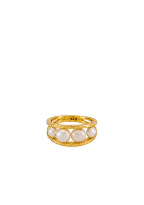 Amber Sceats Astra Ring in Metallic Gold.