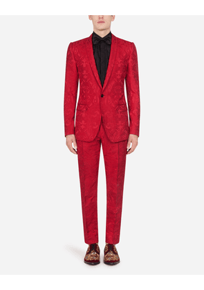 Dolce & Gabbana Suits - JACQUARD MARTINI SUIT RED male 56
