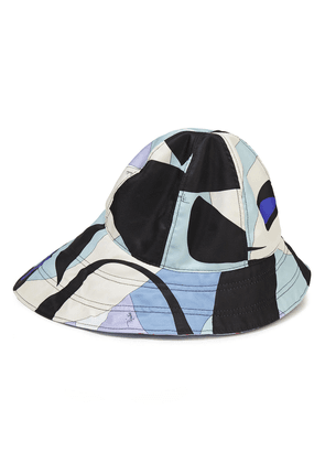 Emilio Pucci Printed Twill Bucket Hat Woman Light blue Size I