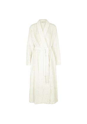 Eberjey Chalet Ivory Fleece Robe