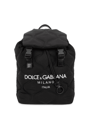 Dolce & Gabbana Palermo Tecnico Black Quilted Nylon Backpack