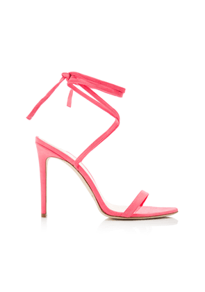 Brandon Maxwell Suede Ankle Wrap Sandals