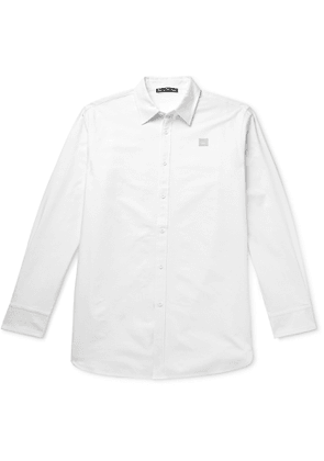 ACNE STUDIOS - Saco Ox Oversized Logo-Appliquéd Cotton Oxford Shirt - Men - White