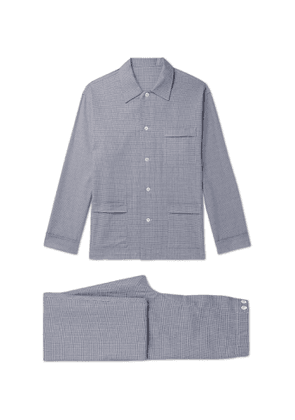 Anderson & Sheppard - Prince of Wales Checked Cotton Pyjama Set - Men - Blue