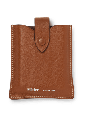 Métier - Full-Grain Leather Playing Cards Case - Men - Brown