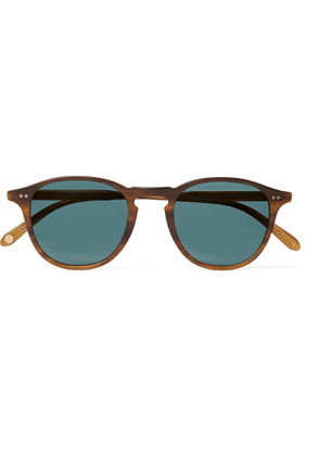 GARRETT LEIGHT CALIFORNIA OPTICAL - Hampton Sun Round-Frame Acetate Sunglasses - Men - Tortoiseshell