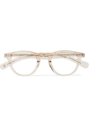 GARRETT LEIGHT CALIFORNIA OPTICAL - Round-Frame Acetate Optical Glasses - Men - Neutrals