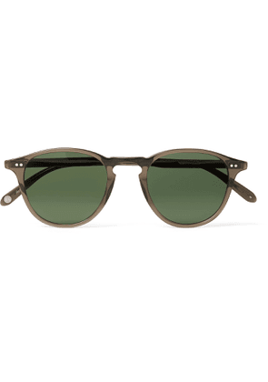 GARRETT LEIGHT CALIFORNIA OPTICAL - Hampton Sun Round-Frame Acetate Sunglasses - Men - Gray