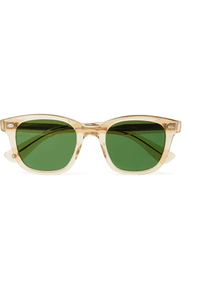 GARRETT LEIGHT CALIFORNIA OPTICAL - Calabar Square-Frame Acetate Sunglasses - Men - Yellow