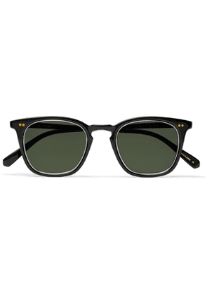 MR LEIGHT - Getty S Square-Frame Acetate and Silver-Tone Sunglasses - Men - Black